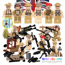 🔥 WW2 Military Soldiers US Britain Army+Weapon for Minifigures Blocks Toys Set
