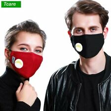 Fashion Respirator Mask With Breathing Valve Washable Cotton Activated Carbon