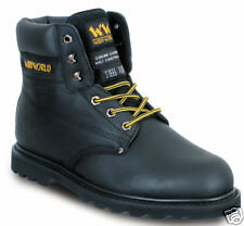 WOOD WORLD WW2H-P STEEL TOE WORK SAFETY BOOTS - BLACK