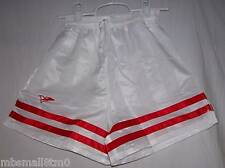 WHITE & Red Soccer Shorts BELOW WHOLESALE + FREE S&H