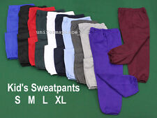 New BOYS GIRLS KIDS SWEATPANTS colors  size S M L XL