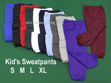 Unisex BOYS GIRLS KIDS SWEATPANTS colors  Elastic Waist size S M L XL