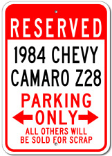 1984 84 CHEVY CAMARO Z28 Parking Sign