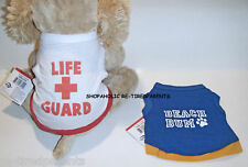 PET TANK TOP – RED LIFE GUARD or BLUE BEACH BUM  – SIZES X-SMALL or SMALL - NWT