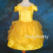 Girls Belle Princess Costume Fancy Dress Up Party Holiday Child Age 18m-9y FC017