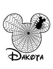 Personalized Mickey Spider Web Iron On Transfer Decal