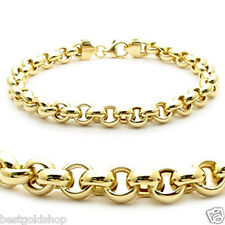 Polished Rolo Charm Bracelet 14K 14KT Yellow Gold 5mm