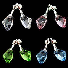 GENUINE SWAROVSKI CRYSTAL GALACTIC, 925 STERLING SILVER EARRINGS