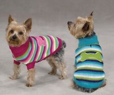 Dog Sweater Brite Stripe Pet Top Pink Blue XXS-L Bone  Clothing Zack & Zoey