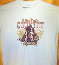 """ LOVE THAT COUNTRY MUSIC ""  Tan T Shirt Sz Sm - 5XL Guitars, Fiddles, Fun"