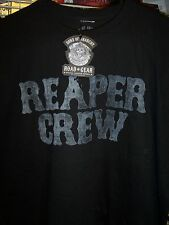 SONS OF ANARCHY REAPER CREW BLACK T-SHIRT NEW !