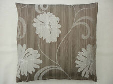 moch/brown with large cream/ivory flower in tuscany design scatter cushion cover