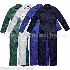 Dickies Work Wear Coverall Overalls Boiler Suit Redhawk Stud Economy Mens WD4819