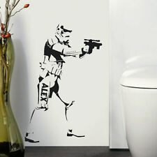 LARGE PERSONALIZED STAR WARS STORM TROOPER CHILDRENS BEDROOM WALL STICKER DECAL