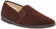 BRAND NEW MENS GROSBY PERCY COMFORTABLE CHOCOLATE SLIPPERS MOCCASINS AUS SIZES