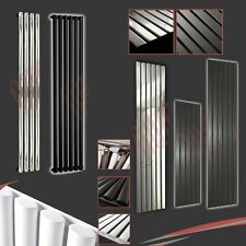 SALE! Designer Vertical Feature Radiators Flat & Oval Tubes Chrome Black & White