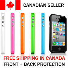 Bumper Case Cover for Apple iPhone 4 4S S 4G Style Plastic Silicone Rubber Color
