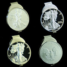 American Silver Eagle 1 oz Dollar Cut Coin Money Clip Jewelry men man Gift