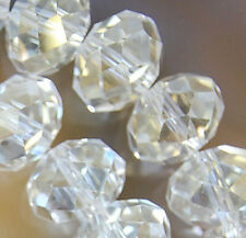 8x12mm Faceted Clear Rainbow AB Crystal Beads 36pcs