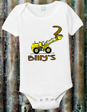 Personalized Birthday Shirt Custom Tractor Top Shower Gift Pregnancy Month Baby