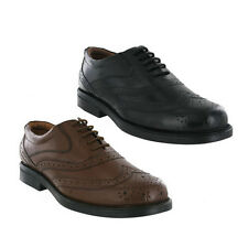 Mens Wide Fitting Shoes Leather Brogues Black / Brown  uk sizes 6-14