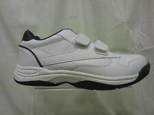 Mens Hi-Tec Twin Strap Trainer, Coated Leather/Synthetic, White/Navy, Legend 1