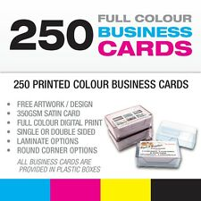 250 Business Cards - Single/Double Sided-Matt or Gloss Laminate-Rounded Corners