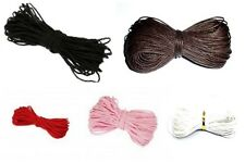 10 & 30Mtr Shamballa Style Wax Cotton Cord Various Colours 1mm -1.5mm~lady-muck1