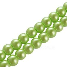 4mm 6mm 8mm 10mm round glass pearl spacer beads White Black Many colors to pick