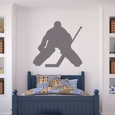 Ice Hockey Goal Keeper Wall Stickers Ball Sports Wall Art Decal Transfers