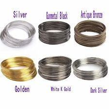 100loop Silver/Gold Plated Memory Steel Wire For Cuff Bangle Bracelet 0.6mm