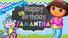 Dora the Explorer Personalized Custom Birthday Banner In/outdoor use