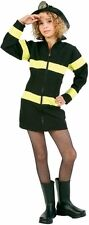 Preteen Child Firefighter Girl Halloween Holiday Costume Party Small Medium