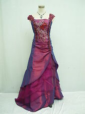 Cherlone Satin Purple Long Lace Prom Ball Wedding/Evening Bridesmaid Gown Dress