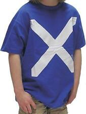 Kids Boys Scotland Saltire Royal Blue T-Shirt Top Quailty Brand New