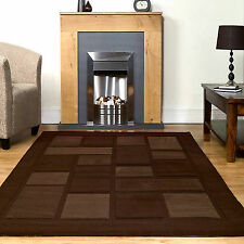 SMALL - EXTRA LARGE MODERN CONTEMPORARY CHOCOLATE BROWN DARK BEIGE RUG