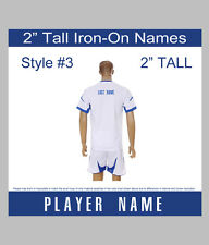 """2"""" Tall Iron-On Player Name or Team Name for Sports Jersey T-Shirt Style #3"""