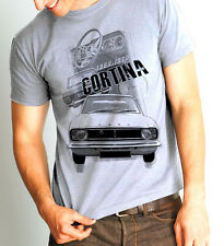 FORD CORTINA 1966-1970 RETRO T-SHIRT HAND PAINTED & SCREEN PRINTED ALL SIZES NEW
