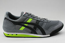Asics Onitsuka Tiger Ultimate 81 Grey Black Lime Green Mens & Women Casual Shoes