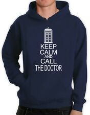 KEEP CALM AND CALL THE DOCTOR Hoodie Who Cult TV Series Funny cool humor