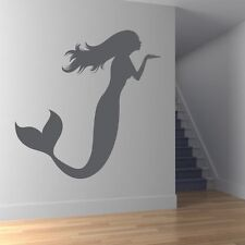 Mermaid Blowing a Kiss Bathroom Wall Stickers Wall Art Decal Transfers