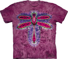 The Mountain Tie Dye Cotton T shirt - Dragonfly - Adult and child sizes