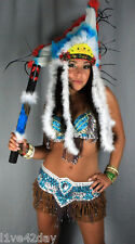 Chief Iron Ass Belly Dance Costume Bra Burlesque Indian Princess Sexy Halloween