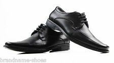 MENS NEW JULIUS MARLOW EXCITE FORMAL BLACK DRESS LEATHER SHOES WITH LACES BLACK