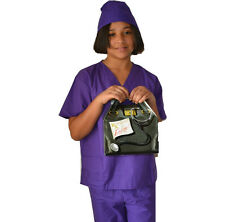 Kids Doctor Costume with REAL Scrubs, Scrubs Cap, and Doctor Bag