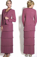 8 COLOR FORMAL OCCASION MOTHER OF THE BRIDE/ GROOM DRESS EVINING M To 4XL Jacket