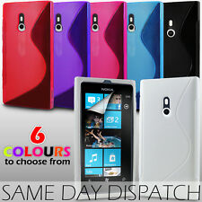 S LINE WAVE GEL CASE & SCREEN PROTECTOR FOR NOKIA LUMIA 800