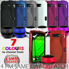 S LINE WAVE GEL SKIN CASE COVER & SPEAKER FOR BLACKBERRY TORCH 9860