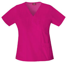 Scrubs Dickies Gen Flex Youtility V-Neck Top 817455 Hot Pink FREE SHIPPING!