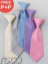 Boys Special Occasion Stylish Ties checkered Wedding Ties Prom Ties Elasticated
